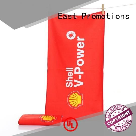 East Promotions personalized towels vendor for packing