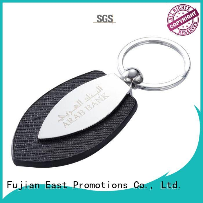 East Promotions factory price leather keychain for car supplier for souvenirs of school anniversary