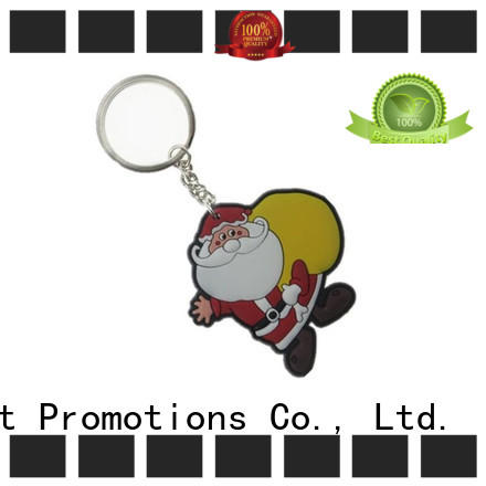Custom 3D PVC Rubber Christmas Keychain for Promotional Gifts