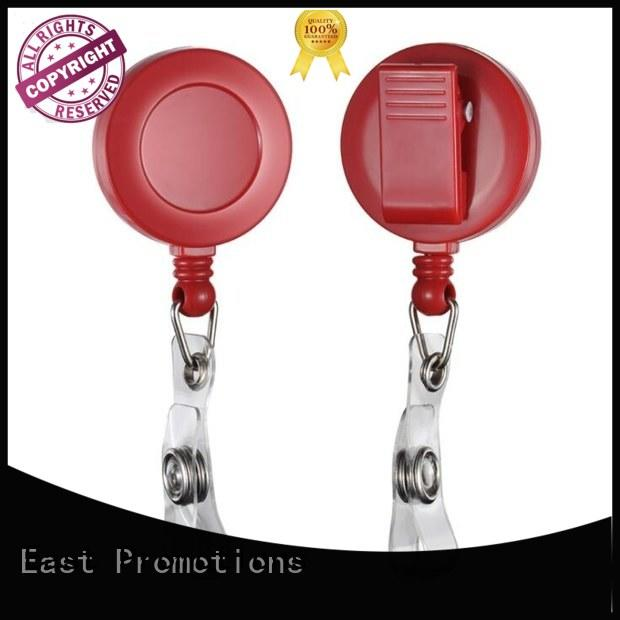 East Promotions abs retractable name badge holders China for card