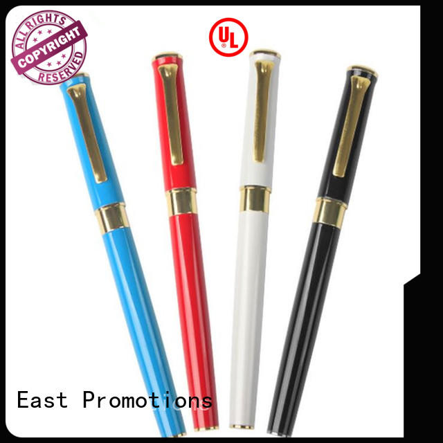 East Promotions creative metal pen promotion for work