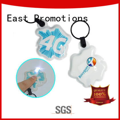 East Promotions soft custom keychain flashlights gold metal for gift