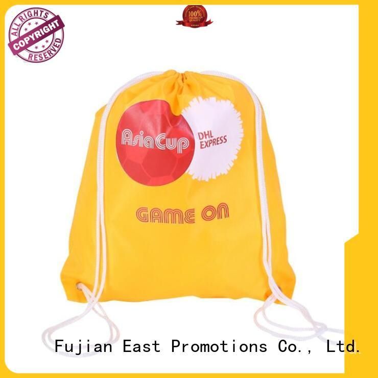 East Promotions blank drawstring bags from China for traveling