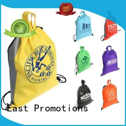 East Promotions drawstring backpack with pockets factory for gym