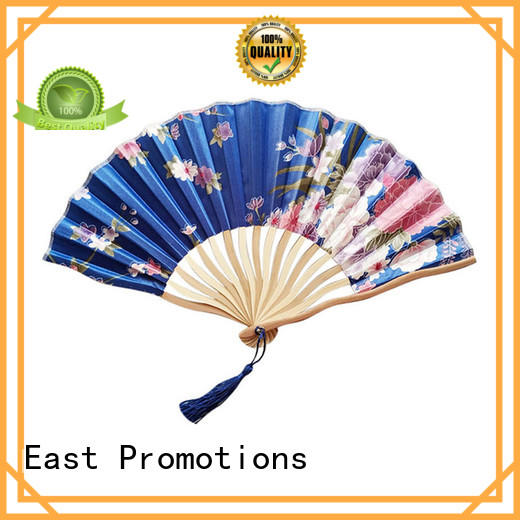 high quality hand fan printing foldable with ring for dancing
