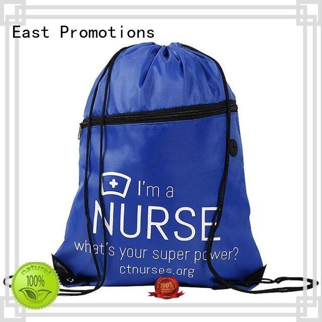 East Promotions canvas drawstring bags best supplier for gym