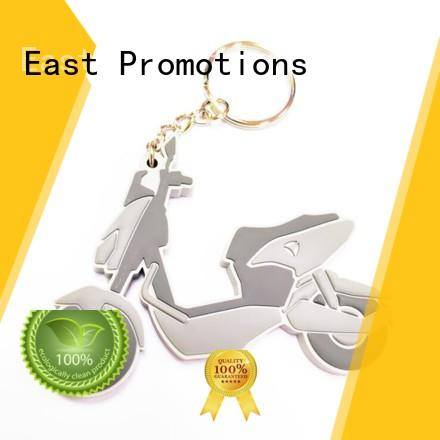 East Promotions high quality rubber key rings company for decoration