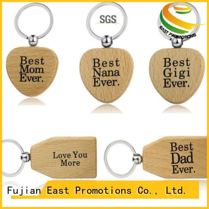 East Promotions plain wooden keyrings supplier bulk production
