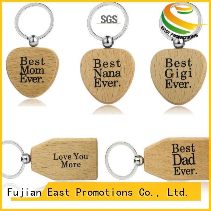 East Promotions plain wooden keyrings supplier bulk production