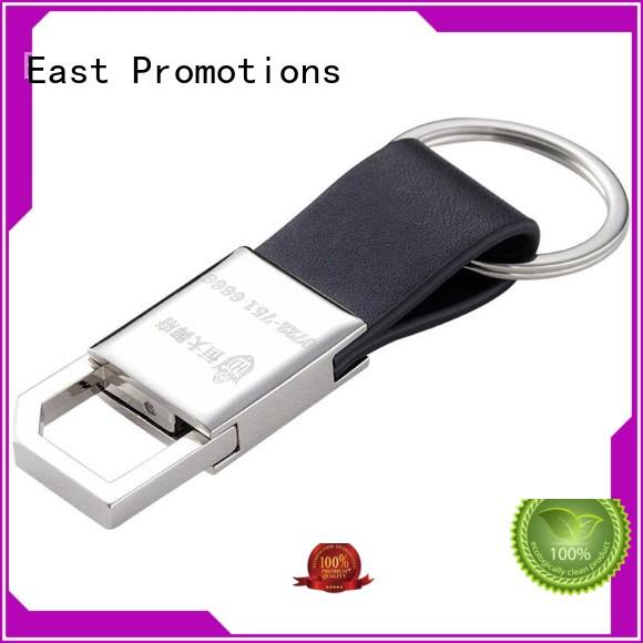 Customized Promotional Gifts Metal PU Leather Keychain