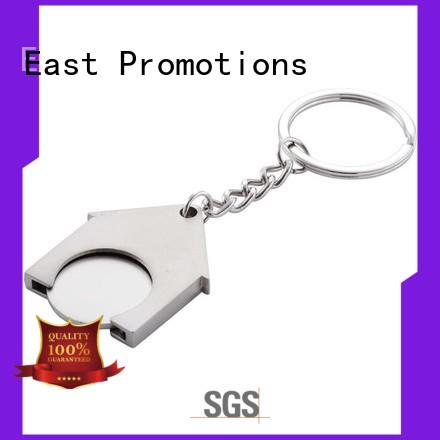 East Promotions high-quality plain metal keychains factory bulk buy