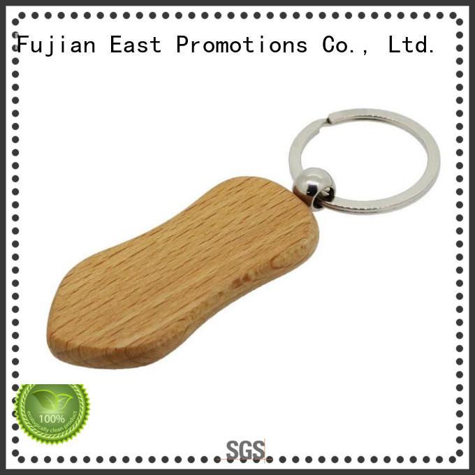 East Promotions wood keychain design manufacturer for key