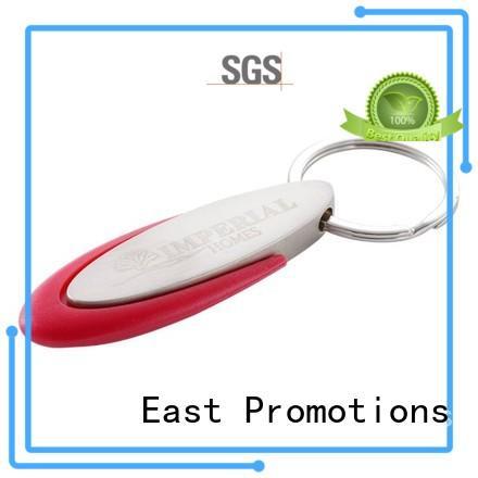 East Promotions nice custom shape metal keychains chain for key
