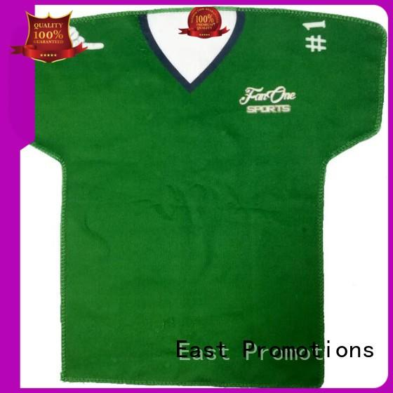 East Promotions quality towels in different shapes for packing