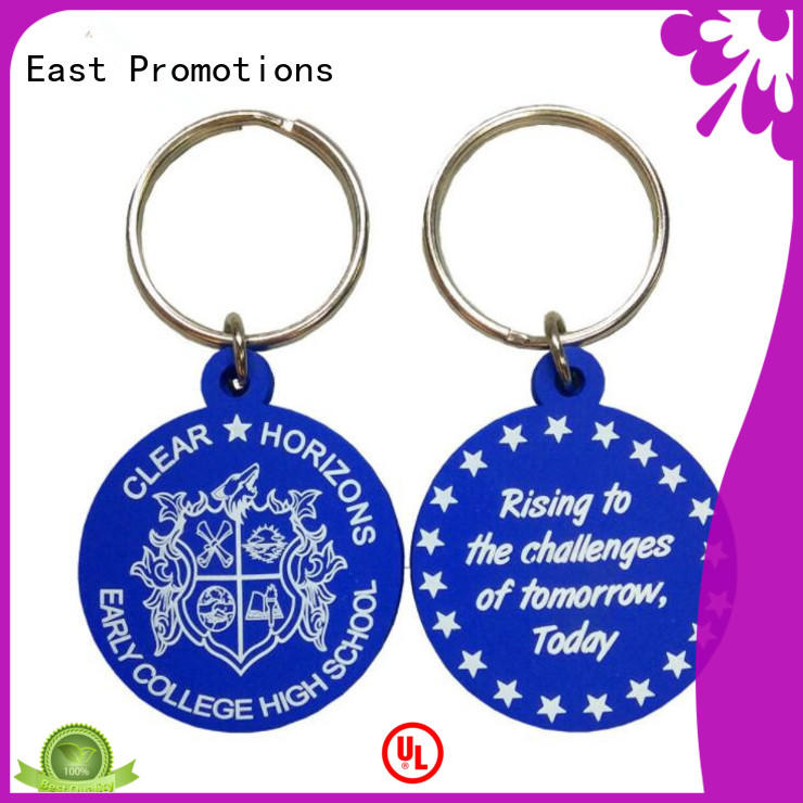 East Promotions cheap custom rubber key tags supply for key