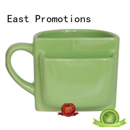 Ceramic Mug Cookie Holder, Mug with Biscuit Pocket