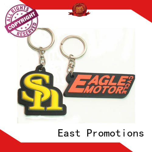 East Promotions worldwide custom rubber keychains with good price for sale