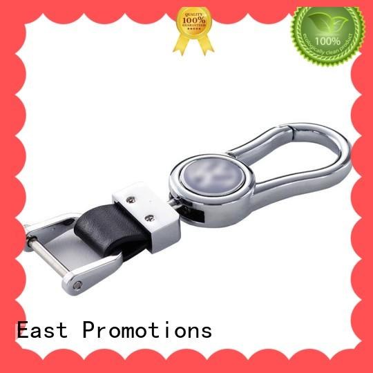 Car Logo Laser Engraved PU Leather Zinc Alloy Key Chain