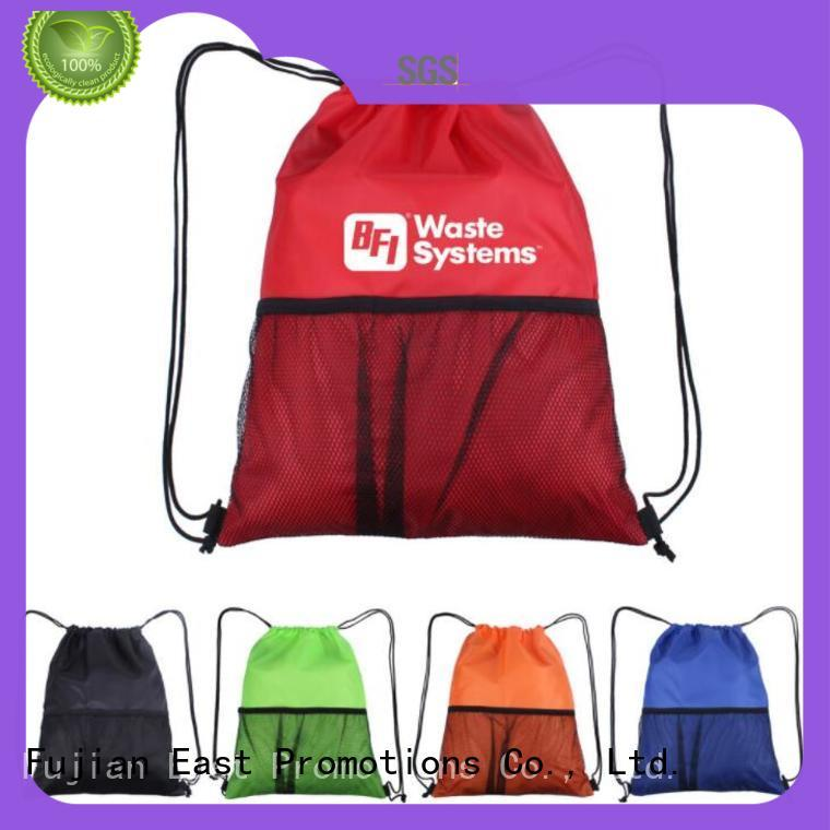 fashion design drawstring school backpack drawstrings in different color for trip