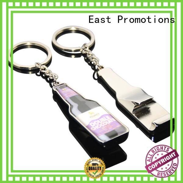 East Promotions metal custom logo metal keychains overseas market for gift