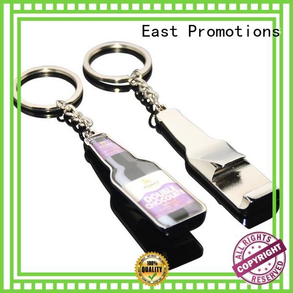 East Promotions metal custom logo metal keychains overseas market for gift