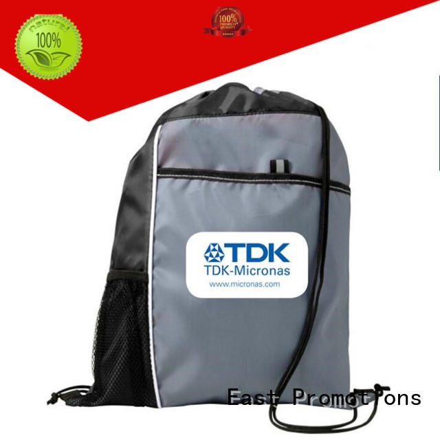 clear durable drawstring backpack canvas for school East Promotions