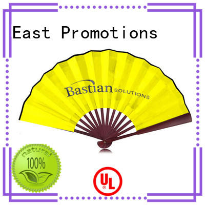 East Promotions plastic promotional hand fans with ring for decoration