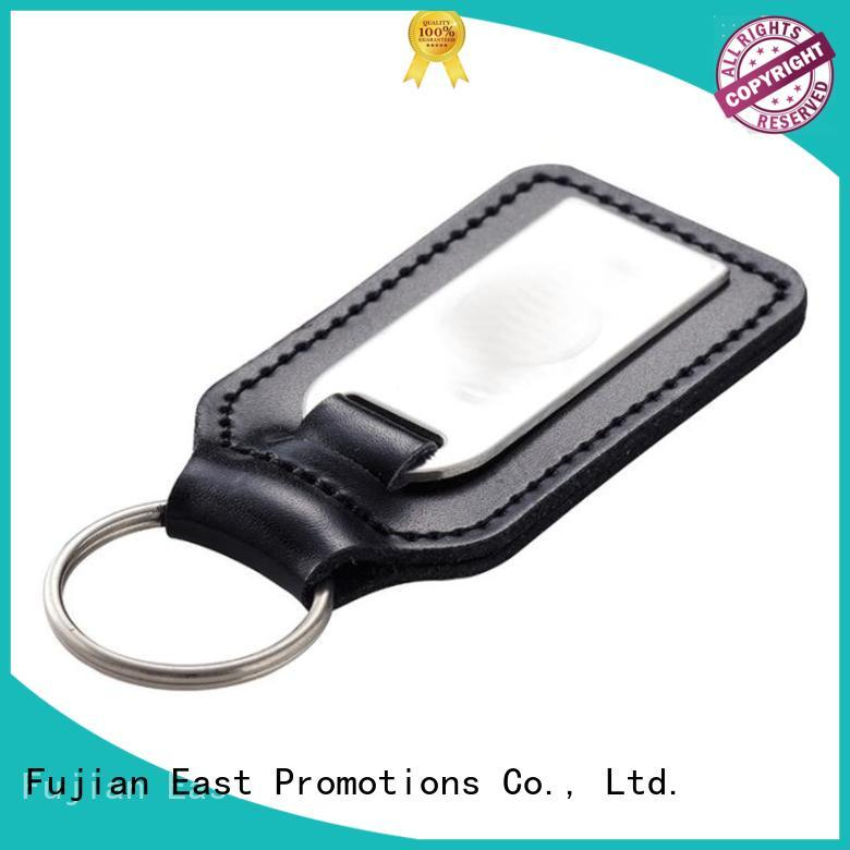 East Promotions best leather keychain blanks best manufacturer for souvenirs of school anniversary