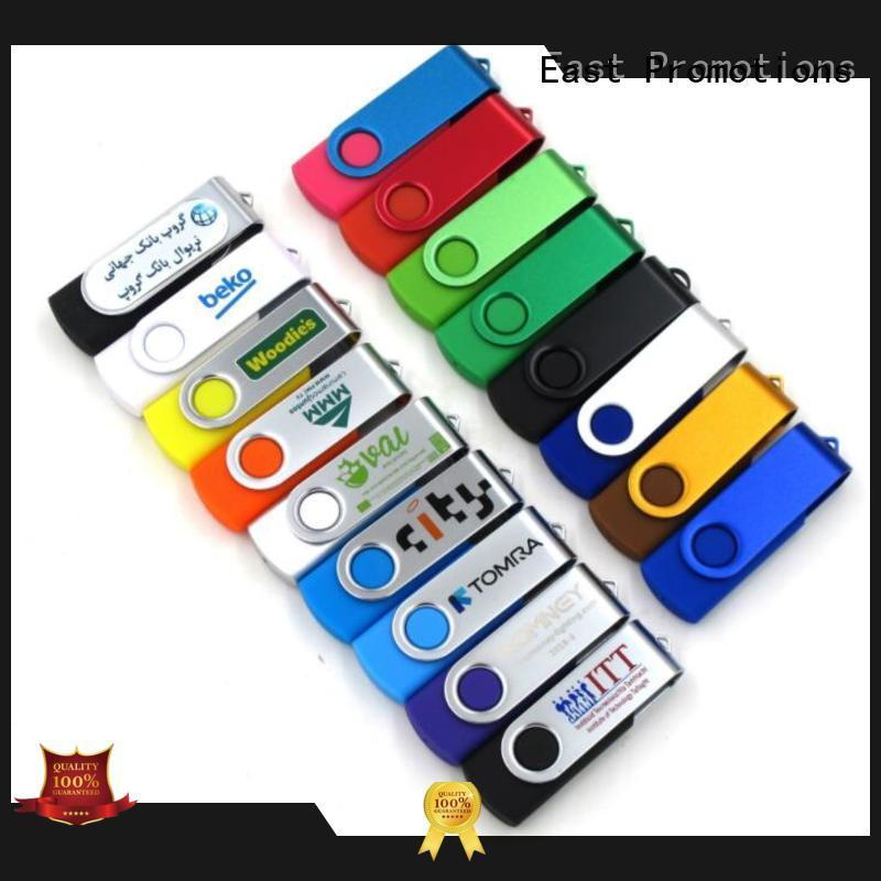 East Promotions best price usb flash drive with logo supplier for file storage