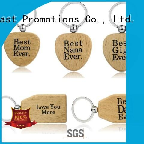 Custom Design Shape Laser Engraved Logo Wood Keychain (Wooden Key chain )