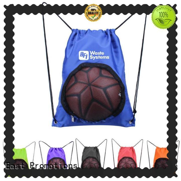 East Promotions elegant canvas drawstring bags bulk in different color for trip