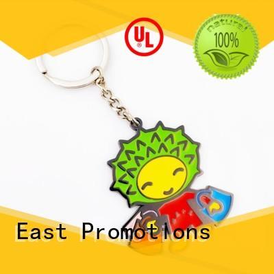 high quality custom logo metal keychains company bulk production
