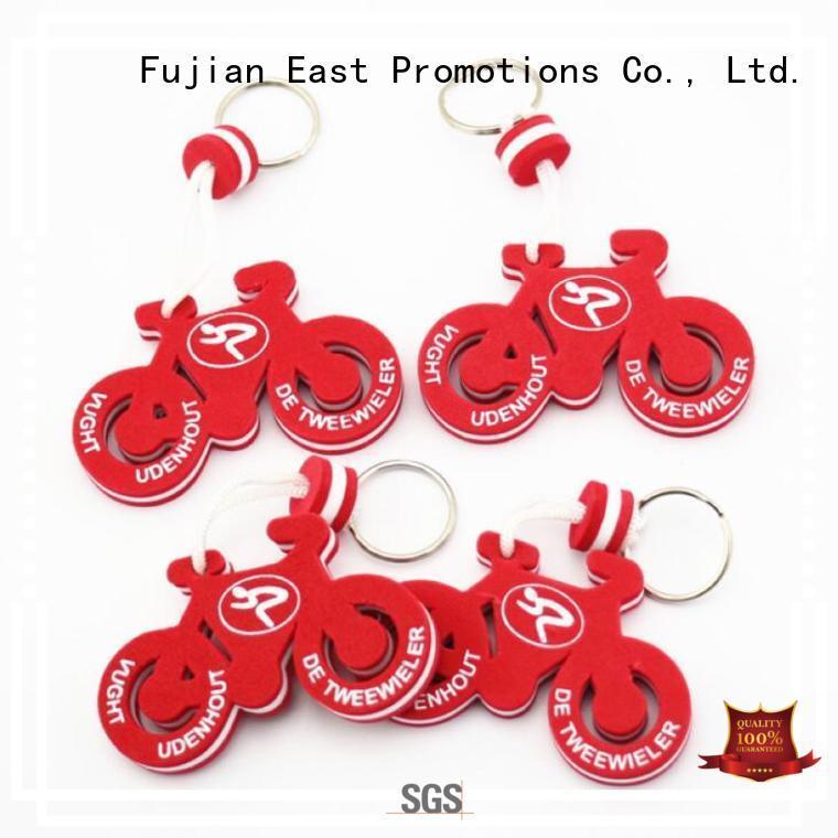 Customized Motorbike Shape EVA Floating Rubber Key Chain for Promotion Gifts
