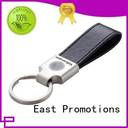 Customized Soft PU Leather Keychain for Car