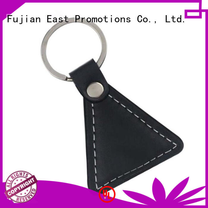 Black PU Leather Key Chain for Promotional Gifts