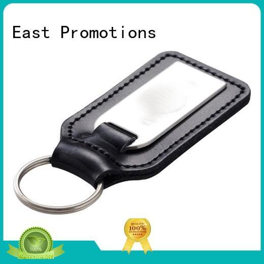 Rectangle PU Leather Keychain with Custom Logo