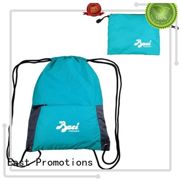 East Promotions card drawstring bags with logo in different shapes for traveling