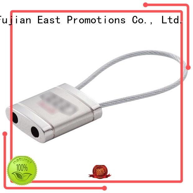 East Promotions led metal keychains with logo supplier for decoration