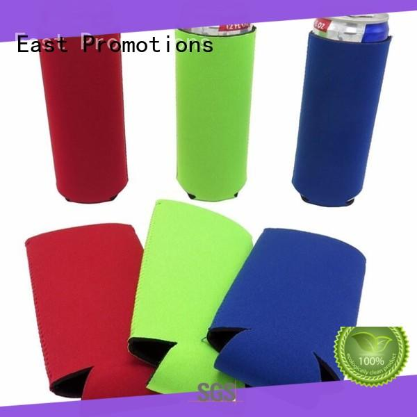 East Promotions personalized water bottle koozie bulk production for can
