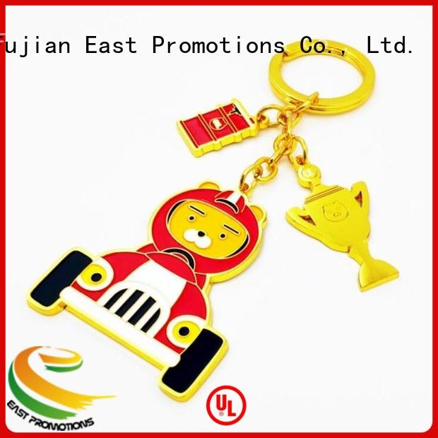 rope metal logo keychain owner for gift East Promotions