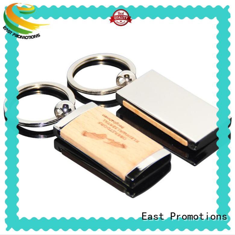 China Cheap Custom Logo Printing Metal Wooden Keychain